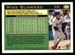 1997 Topps #192  Mike Blowers  Back Thumbnail