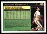 1997 Topps #195  Jason Kendall  Back Thumbnail