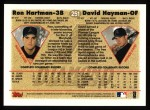 1997 Topps #251  Ron Hartman / David Hayman  Back Thumbnail
