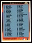 1997 Topps #275   Checklist Back Thumbnail