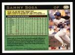 1997 Topps #305  Sammy Sosa  Back Thumbnail