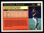 1997 Topps #306  George Arias  Back Thumbnail