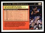 1997 Topps #307  Jack McDowell  Back Thumbnail
