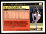 1997 Topps #337  Willie Adams  Back Thumbnail