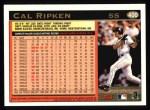 1997 Topps #400  Cal Ripken  Back Thumbnail