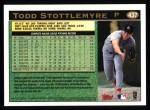1997 Topps #437  Todd Stottlemyre  Back Thumbnail