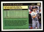 1997 Topps #449  Chad Curtis  Back Thumbnail
