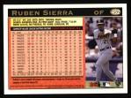 1997 Topps #452  Ruben Sierra  Back Thumbnail