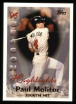 1997 Topps #463   -  Paul Molitor Season Highlights Front Thumbnail