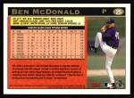 1997 Topps #25  Ben McDonald  Back Thumbnail