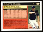 1997 Topps #58  Scott Karl  Back Thumbnail