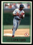 1997 Topps #87  Ray Lankford  Front Thumbnail