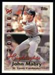 1997 Topps #102  John Mabry  Front Thumbnail