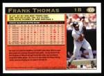 1997 Topps #108  Frank Thomas  Back Thumbnail