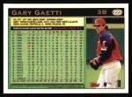 1997 Topps #222  Gary Gaetti  Back Thumbnail