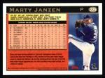 1997 Topps #225  Marty Janzen  Back Thumbnail