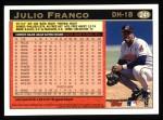 1997 Topps #241  Julio Franco  Back Thumbnail
