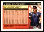 1997 Topps #246  Jose Canseco  Back Thumbnail