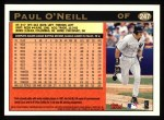 1997 Topps #247  Paul O'Neill  Back Thumbnail