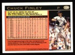 1997 Topps #336  Chuck Finley  Back Thumbnail