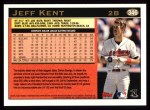 1997 Topps #346  Jeff Kent  Back Thumbnail