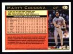 1997 Topps #435  Marty Cordova  Back Thumbnail