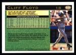 1997 Topps #444  Cliff Floyd  Back Thumbnail