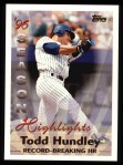 1997 Topps #466   -  Todd Hundley Season Highlights Front Thumbnail