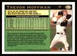 1997 Topps #70  Trevor Hoffman  Back Thumbnail