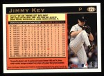 1997 Topps #121  Jimmy Key  Back Thumbnail