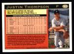 1997 Topps #163  Justin Thompson  Back Thumbnail