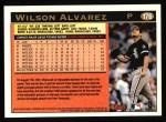 1997 Topps #176  Wilson Alvarez  Back Thumbnail