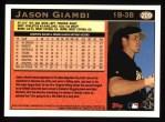 1997 Topps #209  Jason Giambi  Back Thumbnail