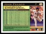 1997 Topps #227  John Franco  Back Thumbnail