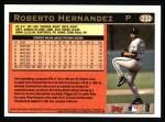 1997 Topps #232  Roberto Hernandez  Back Thumbnail