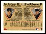 1997 Topps #251  Ron Hartman / David Hayman  Back Thumbnail