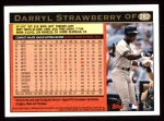 1997 Topps #282  Darryl Strawberry  Back Thumbnail