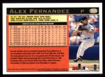 1997 Topps #355  Alex Fernandez  Back Thumbnail