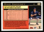 1997 Topps #447  Mike Sweeney  Back Thumbnail