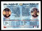 1997 Topps #472  Mike DeCelle / Marcus McCain  Back Thumbnail