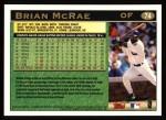 1997 Topps #74  Brian McRae  Back Thumbnail