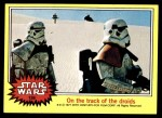 1977 Topps Star Wars #138   On the track of the droids Front Thumbnail
