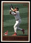 1997 Topps #318  Manny Ramirez  Front Thumbnail