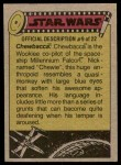 1977 Topps Star Wars #138   On the track of the droids Back Thumbnail