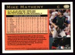 1997 Topps #485  Mike Matheny  Back Thumbnail