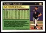 1997 Topps #15  Andy Ashby  Back Thumbnail