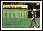 1997 Topps #34  Carlos Garcia  Back Thumbnail