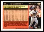 1997 Topps #41  B.J. Surhoff  Back Thumbnail
