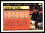 1997 Topps #65  Chuck Knoblauch  Back Thumbnail