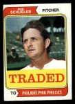 1974 Topps Traded #544 T  -  Ron Schueler Traded Front Thumbnail